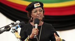Grace Mugabe has requested diplomatic immunity over an allegation that she assaulted a young model in Johannesburg earlier this week (AP)