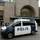 Finnish police patrol in front of the Central Railway Station, after stabbings in Turku, in Central Helsinki, Finland Photo: Reuters