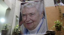 A state funeral has been held for Ruth Pfau, a German leprosy doctor and nun known as the Mother Theresa of Pakistan (AP/Fareed Khan)