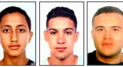 Wanted: Images released by the Catalan regional police shows four suspects of the Barcelona and Cambrils attacks, from the left, Moussa Oukabir, Said Aallaa, Mohamed Hychami and Younes Abouyaaqoub. Photo: AFP/Getty