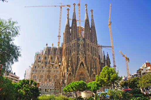 Their target — la Sagrada Familia, the unfinished temple designed by Catalan architect Antoni Gaudi and one of the best loved landmarks of Barcelona