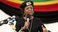 Grace Mugabe has returned to Zimbabwe despite an allegation that she assaulted a young model in Johannesburg (AP/Tsvangirayi Mukwazhi)
