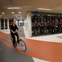 A cyclist rides her bike in the world's largest bike parking garage in Utrecht, Netherlands. Photo: Reuters