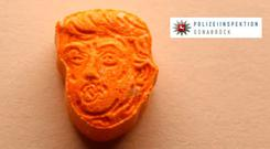 German police said they have seized thousands of ecstasy pills in the shape of Donald Trump's head (Police Osnabrueck via AP)