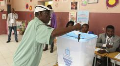 A man casts his vote in elections in Luanda, Angola (AP)
