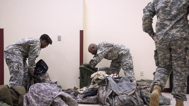 The military said there are currently about 3,500 National Guard troops involved in the operation (Chelsea Purgahn/Tyler Morning Telegraph via AP)