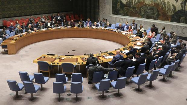 The United Nations Security Council holds an emergency meeting on North Korea in New York (AP Photo/Bebeto Matthews)