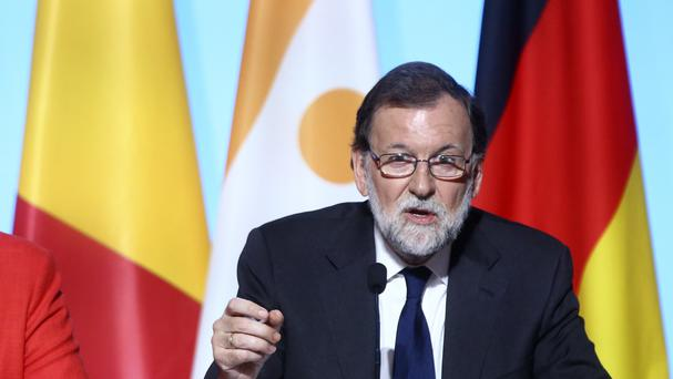 Spanish Prime Minister Mariano Rajoy has defended his record. (AP)
