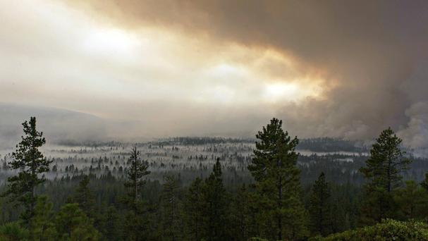 Wildfires in Oregon and Montana have also prompted evacuations (Tom Story/Inciweb via AP)
