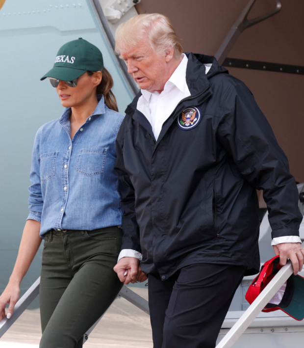 THE CAVALRY ARRIVES: Donald and Melania Trump