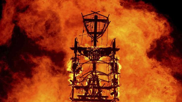The Burning Man festival's trademark ceremony (Andy Barron/Reno Gazette-Journal via AP, File)
