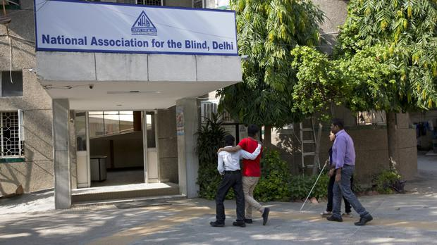 The National Association for the Blind building in New Delhi (AP)
