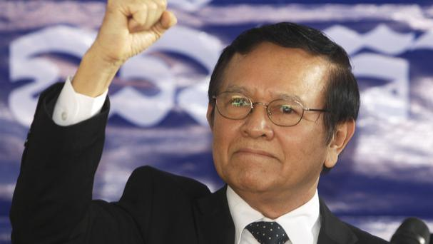 Opposition Cambodia National Rescue Party leader Kem Sokha, who has been charged with treason (AP Photo/Heng Sinith, File)