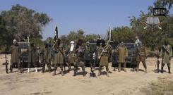 Still from a video of Boko Haram militants (AP)