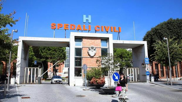 A view of the hospital in Brescia where the four-year-old girl died from malaria (Ansa/AP)
