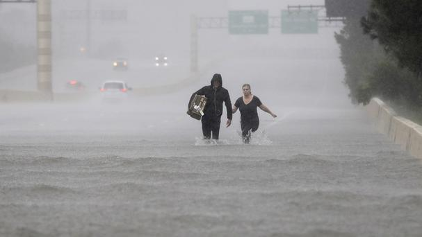 Harvey caused widespread flooding in Houston (AP)