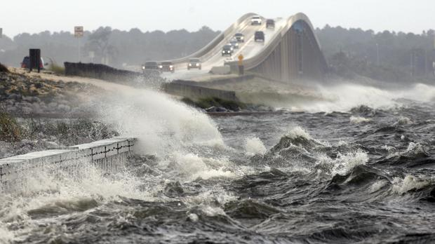 Storm surges could top 12ft in some areas of the Florida coast (AP)