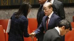 The UN voted to adopt a new sanctions resolution against North Korea on Monday (AP)