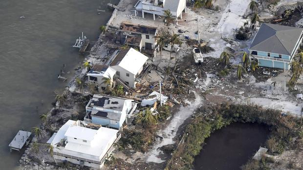 Damaged houses in the aftermath of Hurricane Irma in the Florida Keys (Washington Post/AP)