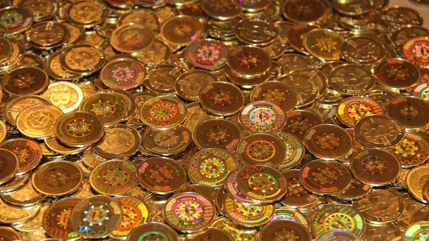 Handout Photo of Bitcoins.