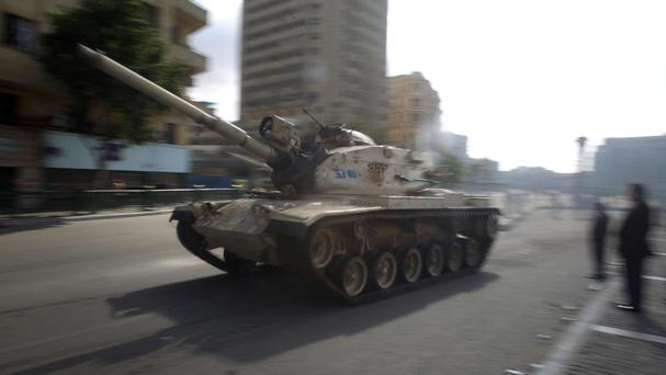 Stock picture of a tank in Egypt