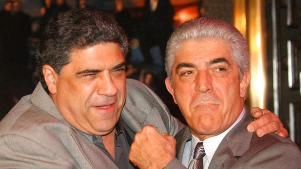 Frank Vincent, right, was known for his role in The Sopranos (AP)