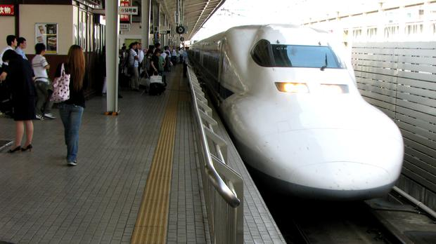 Stock picture of a Japanese bullet train