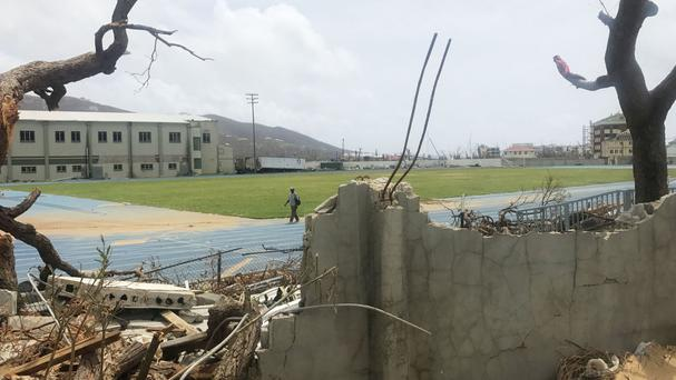 Some of the damage in Tortola in the British Virgin Islands after Hurricane Irma battered the region