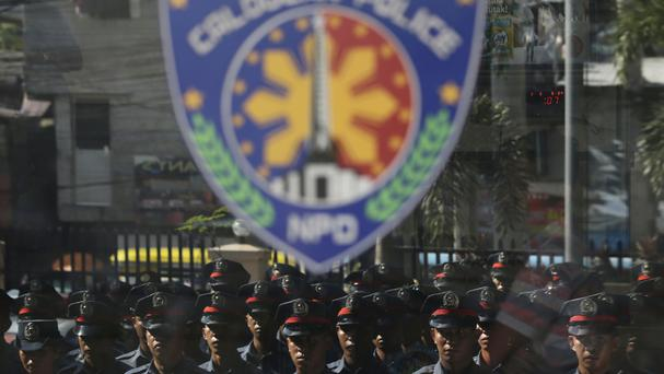 New police trainees at Caloocan City Police Station (AP)