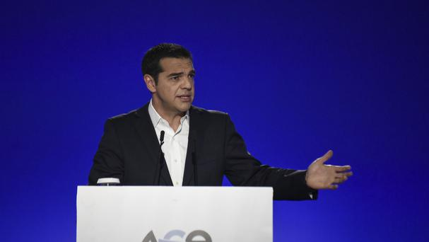 Mr Tsipras said Greece is on course to meet key conditions (AP)