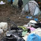 File photo of migrants at the Dunkirk Grand Synthe Camp in France