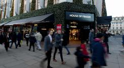 House of Fraser sales
