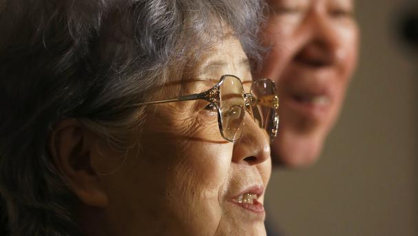 Sakie Yokota, the mother of Megumi Yokota who was abducted by North Korea in 1977 (AP)