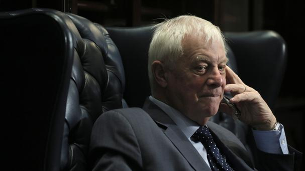 Lord Patten, Hong Kong's last British governor, listens to a reporter's questions during a promotion event of his new book First Confession in Hong Kong (AP)
