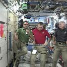 Joe Acaba, left, is the first astronaut of Puerto Rican heritage (Nasa/AP)