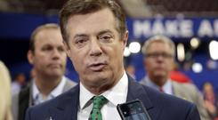 Paul Manafort reportedly said during the presidential race that he was willing to provide private briefings for a Russian billionaire the US government considers close to Russian president Vladimir Putin (AP Photo/Matt Rourke, File)