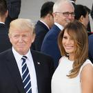 Donald and Melania Trump at a concert in Hamburg