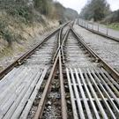 Stock picture of railway tracks