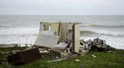 A ruined house in El Negro after the impact of Hurricane Maria (AP)