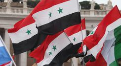 The defence ministry said the missiles targeted militants, ammunition depots and fortifications in Idlib province