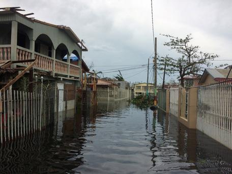 A flooded street in the Juana Matos neighbourhood in Catano municipality, Puerto Rico. Photo: Dave Graham/Reuters