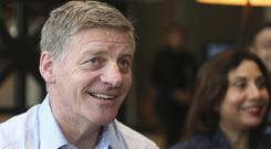 New Zealand prime minister Bill English faces a close race (Doug Sherring/New Zealand Herald via AP)