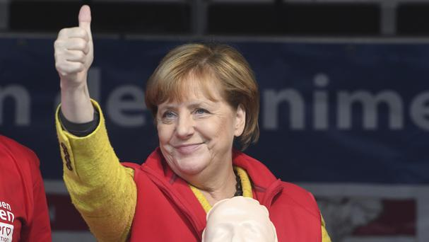 German chancellor Angela Merkel is on course for a fourth term in office