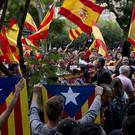 Pro independence demonstrators at a rally