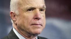 Mr McCain is being treated for brain cancer (AP)