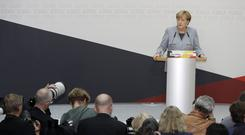 Angela Merkel speaking