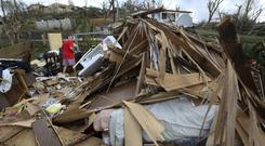 A destroyed home in the aftermath of Hurricane Maria, in Aibonito, Puerto Rico (AP)