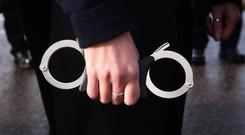 Stock picture of handcuffs