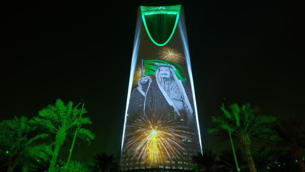 Women were, for the first time, allowed into the country's main stadium in the capital Riyadh, for national day celebrations this month (AP)