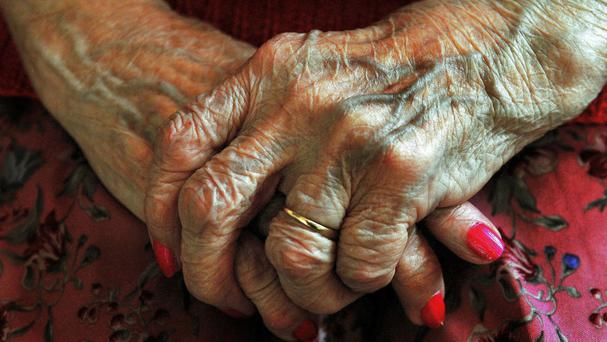 Stock picture of the hands of an elderly woman